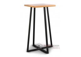 Barový stolek LOFT L8 černý kov / barva dub