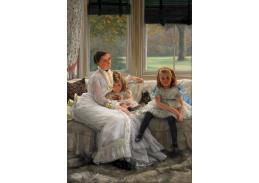VR16-12 James Tissot - Portrét paní Catherine Smith Gill a dvou z jejích dětí