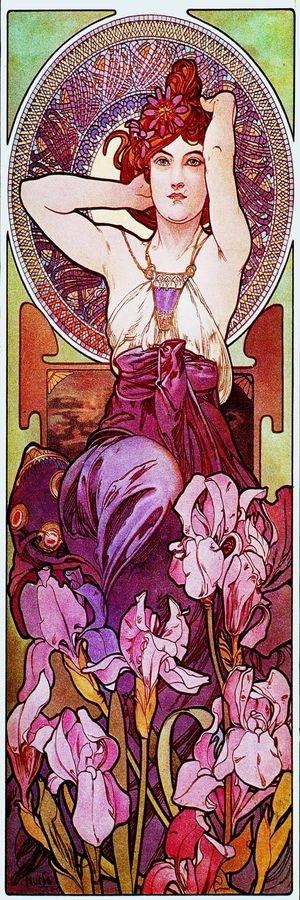 Obraz VAM-108 Alfons Mucha - Amethyst
