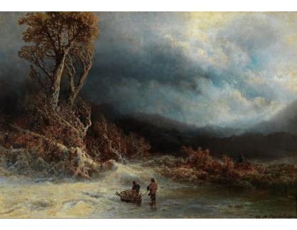Slavné obrazy III-DDSO-523 Charlotte Piepenhagen - Zimní krajina s postavami