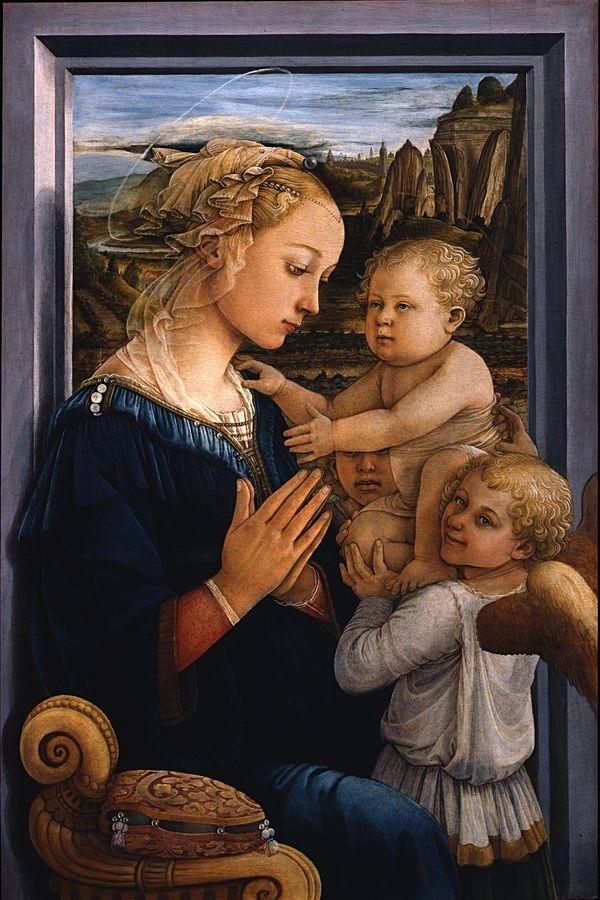 VSO 294 Filippo Lippi - Madonna a dítě se dvěma anděly