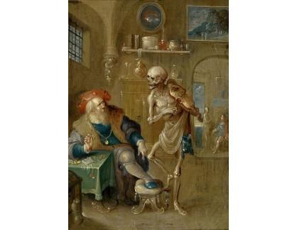 Slavné obrazy XVII-124 Frans Francken - Smrt hrající na housle