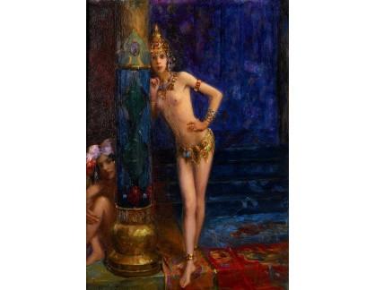Slavné obrazy XVII-214 Gaston Bussiere - Dvě tanečnice