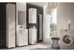 ALIM, koupelnová sestava nábytku, bílá / bílý lesk