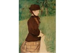 D-7802 Édouard Manet - Mladá žena v zahradě