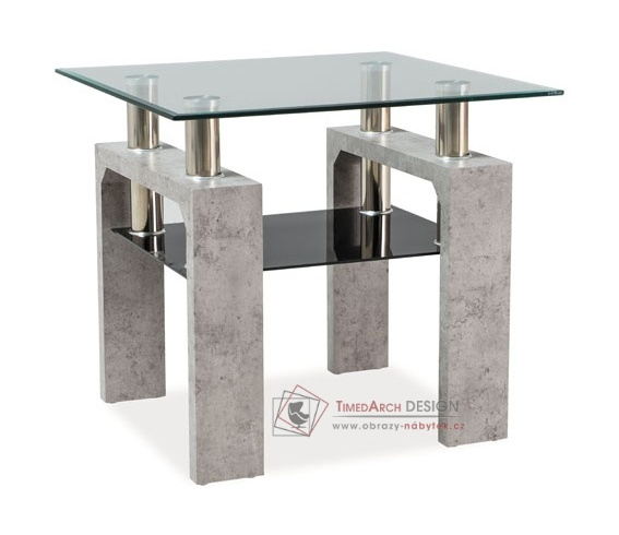 Konferenční stolek LISA D beton / sklo