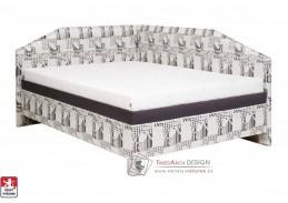 ANDREA, čalouněná postel rohová 100x200cm, výběr provedení