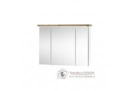 TOSKANA, skříňka se zrcadlem, bílá / dub artisan