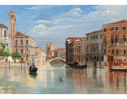 DDSO-1516 Antonietta Brandeis - Grand Canal s výhledem na San Geremia a Palazzo Labia v Benátkách