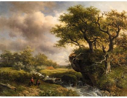 KO III-392 Willem Roelofs - Krajina s potokem a dvěma rybáři
