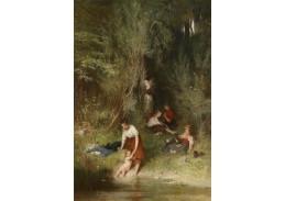 Slavné obrazy X 176 Wilhelm Marc - Koupání
