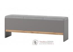 LIVORNO 65, čalouněná lavice, dub wotan / šedá