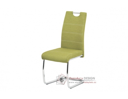 HC-482 GRN2, jídelní židle, chrom / látka zelená