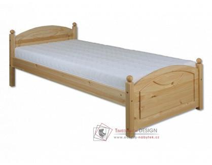 KL-126, postel 80x200cm, borovicový masiv