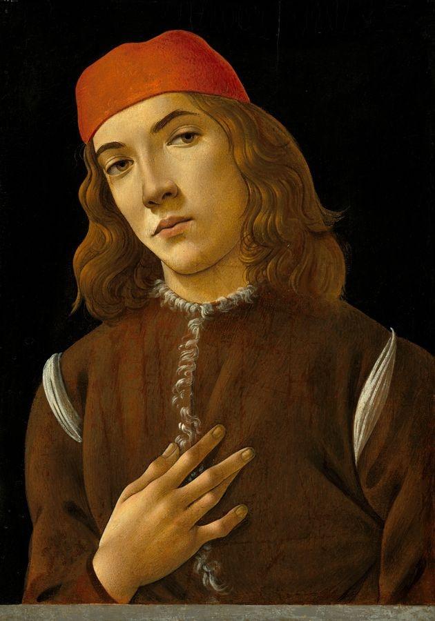 R17-1 Sandro Botticelli - Portrét mladého muže