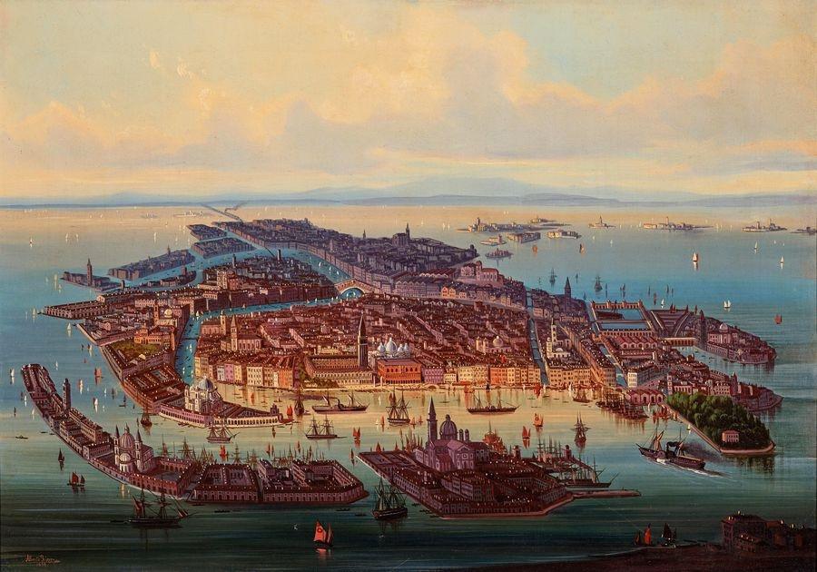 DDSO-1481 Albert Rieger - Panorama Benátek