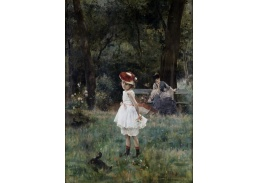 XV-88 Alfred Stevens - Dívka s kachnami
