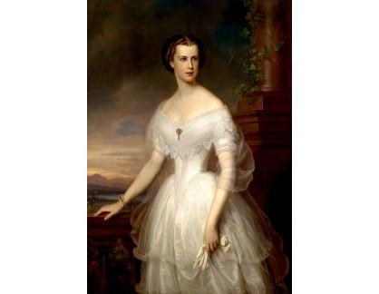 Slavné obrazy XVII-147 Franz Schrotzberg - Císařovna Alžběta Rakouská