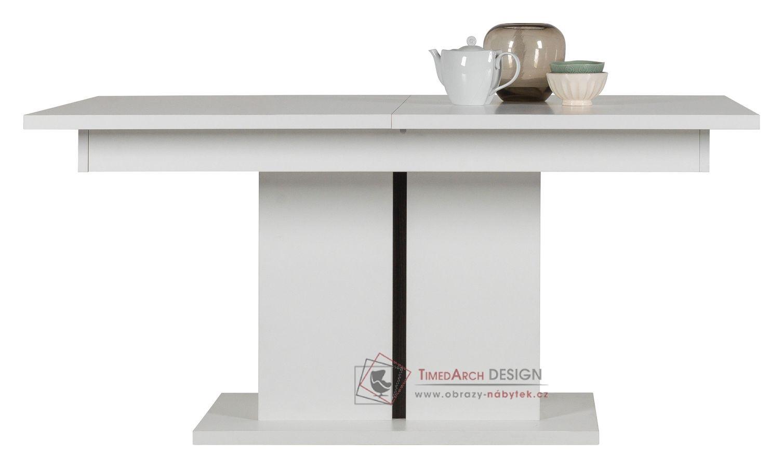 IRMA, jídelní stůl rozkládací IM13 bílá / vysoký lesk bílý