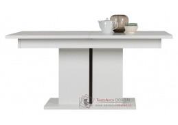 IRMA, jídelní stůl rozkládací IM13, bílá / vysoký lesk bílý