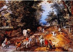 VH457 Jan Brueghel - Cesta lesem