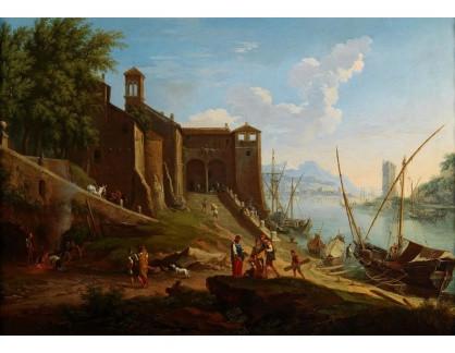 Slavné obrazy IX DDSO-718 Jacob de Heusch - Římský přístav Ripa Grand