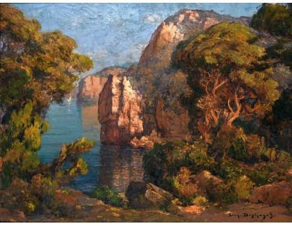 KO III-128 Eugene-Francois-Adolphe Deshayes - Zátoka mezi skalami a stromy