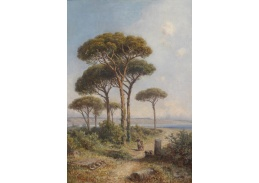 Slavné obrazy X 153 Ignaz Seelos - Borovice na pobřeží