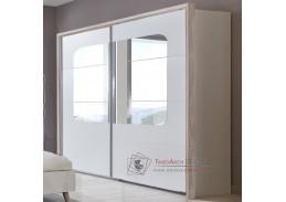 BERGEN 795, šatní skříň s posuvnými dveřmi 270cm, bílá / dub