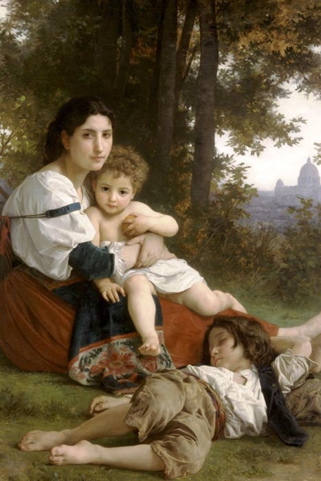 R15-105 Adolph William Bouguereau - Odpočinek