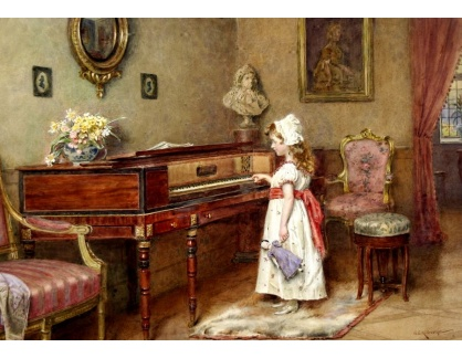 VANG302 George Goodwin Kilburne - Cvičení na klavír