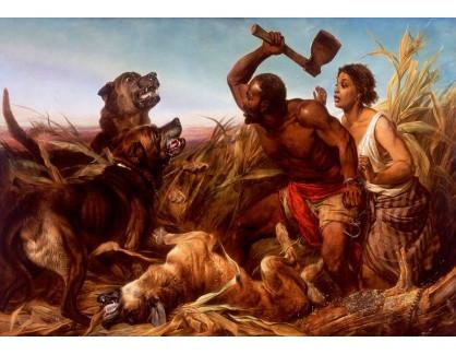 Slavné obrazy XIV-60 Richard Ansdell - Na lovu