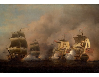 Slavné obrazy XIV-94 Samuel Scott - Bitva u Mysu dobré naděje