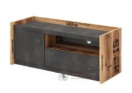 DRAKE 10, televizní stolek se zásuvkou a dvířky, smrk canyon alpine / steel