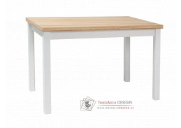 ADAM, jídelní stůl 100x60cm, dub / bílá