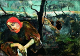 D-7543 Paul Gauguin - Kristus a olivová zahrada