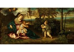 D-8395 Polidoro Lanzani - Madonna a dítě se svatým Janem v krajině