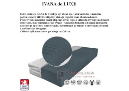IVANA DE LUXE, pěnová matrace 110x200cm