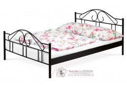 BED-1909 BK, kovová postel 140x200cm, černá