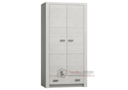 INDIANAPOLIS I-01, šatní skříň 96cm, jasan bílý