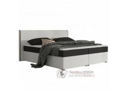 NOVARA MEGAKOMFORT, postel 160x200cm, ekokůže bílá / látka černá