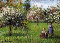 VCP-102 Camille Pissarro - Kvetoucí jabloně v Eragny