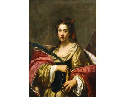 Krásné obrazy V-255 Simon Vouet - Svatá Kateřina