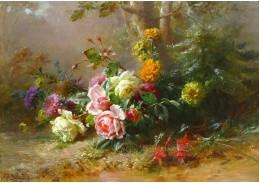 Krásné obrazy VI-101 Neznámý autor - Zátiší s květinami