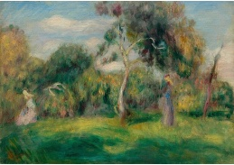 DDSO-4125 Pierre Auguste Renoir - Louka, stromy a ženy