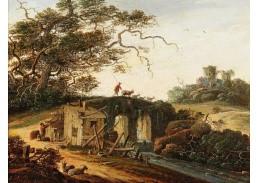 D-6133 Abraham Blommaert - Krajina s mostem přes vodní tok