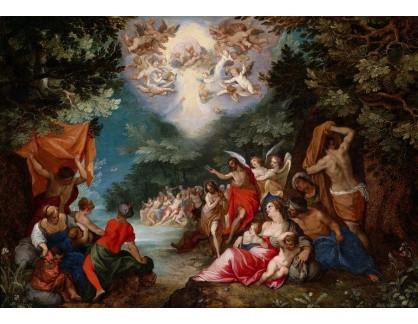 BRG-118 Jan Brueghel a Hans Rottenhammers - Křest Krista v řece Jordán