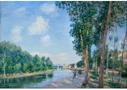 Slavné obrazy XI-10 Alfred Sisley - Slunečný červen v Saint-Mammes