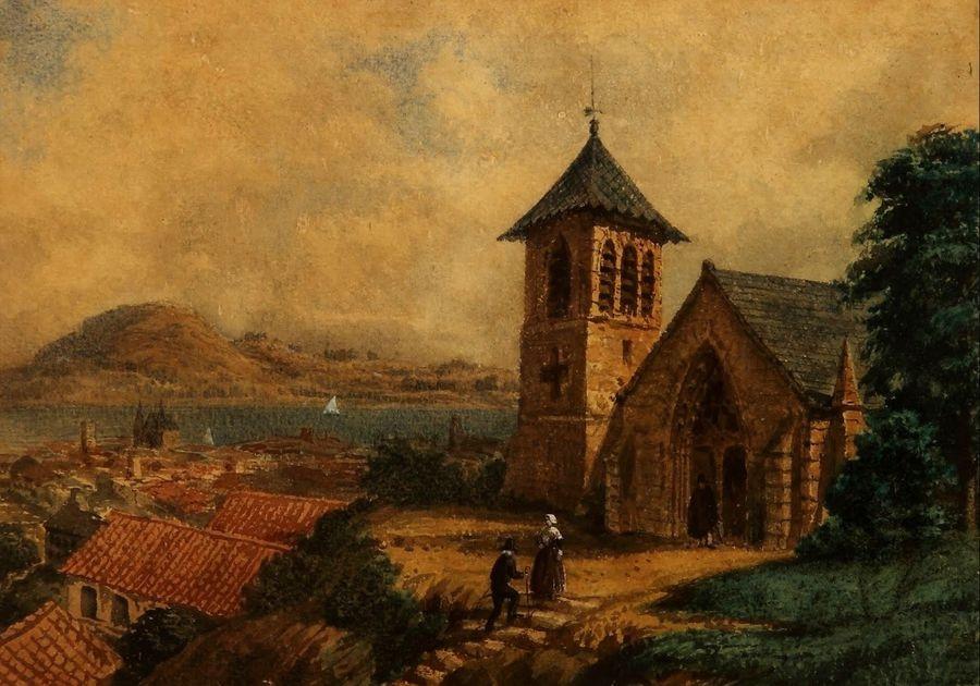 Slavné obrazy XIV-40 Prilidiano Pueyrredon - Krajina