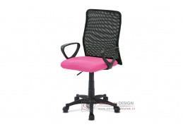 KA-B047 PINK, kancelářská židle, látka mesh černá + růžová
